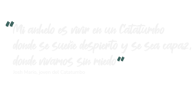 los jovenes se toman la palabra jovenes del catatumbo